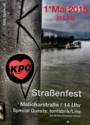 Flyer zum Maifest der KPÖ 2015
