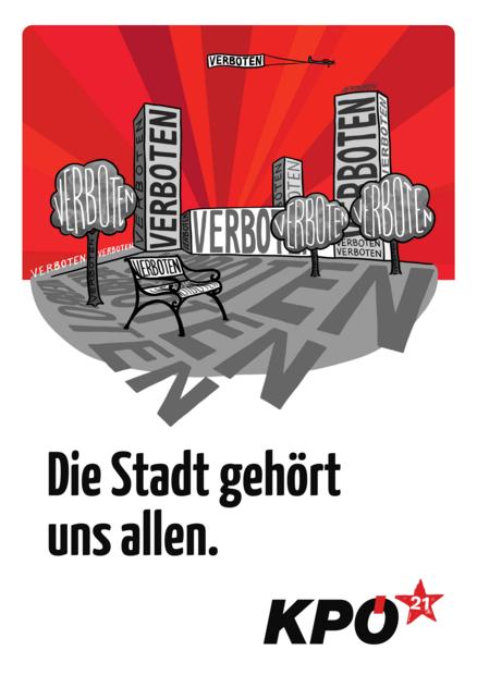 Plakat Die Stadt gehört uns allen!