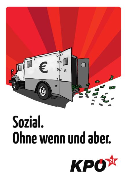 Plakat Sozial. Ohne wenn und aber.