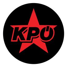 Aufkleber KPÖ Stern Durchmesser 5cm, Button