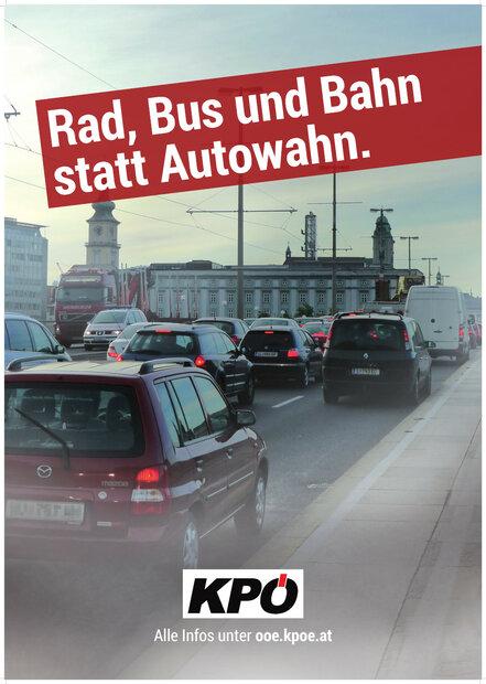 Rad, Bus und Bahn statt Autowahn