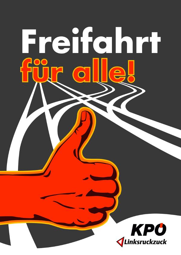 Plakat Freifahrt für alle