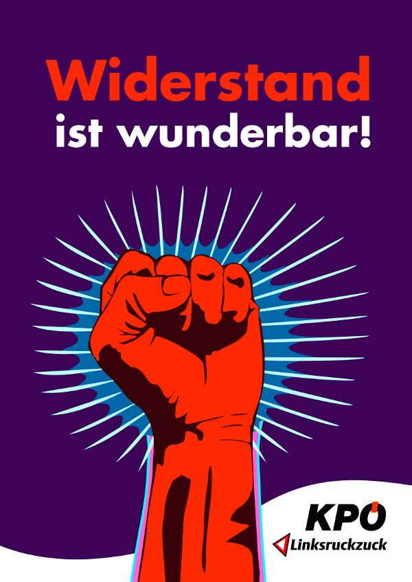 Plakat Widerstand ist wunderbar!