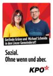 Plakat Gerlinde Grünn und Michael Schmida in den Linzer Gemeinderat