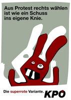 Plakat Schuss ins Knie