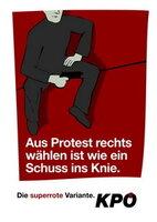 Postkarte Schuss ins Knie